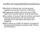 conflict of interest coi commitment