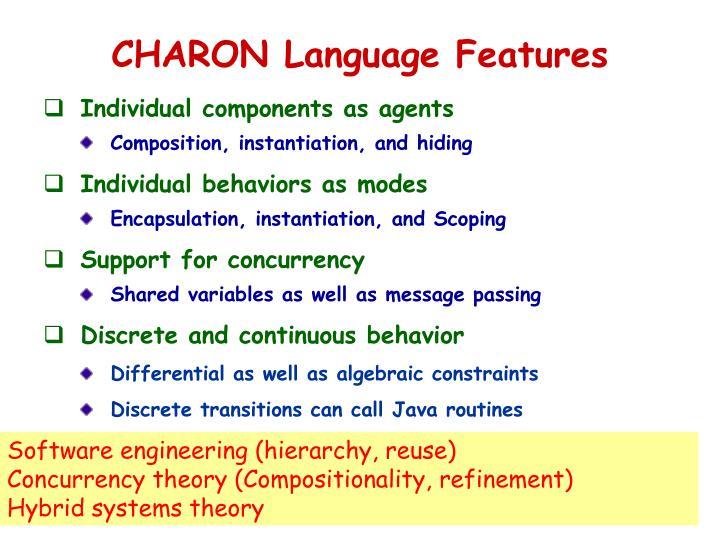 CHARON Language Features