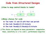 code from structured designs