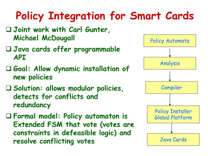 Policy Integration for Smart Cards