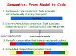 semantics from model to code