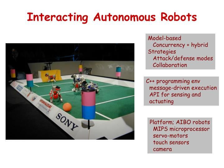 Interacting Autonomous Robots