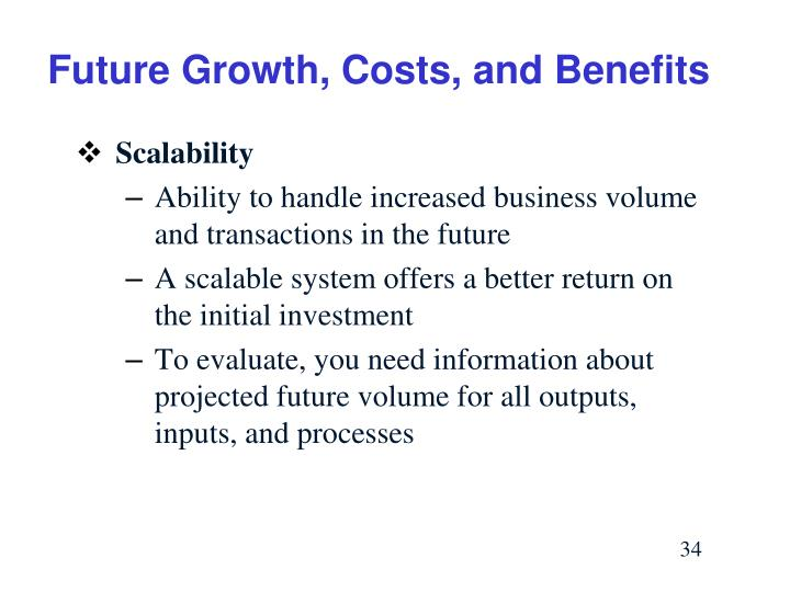 Future Growth, Costs, and Benefits