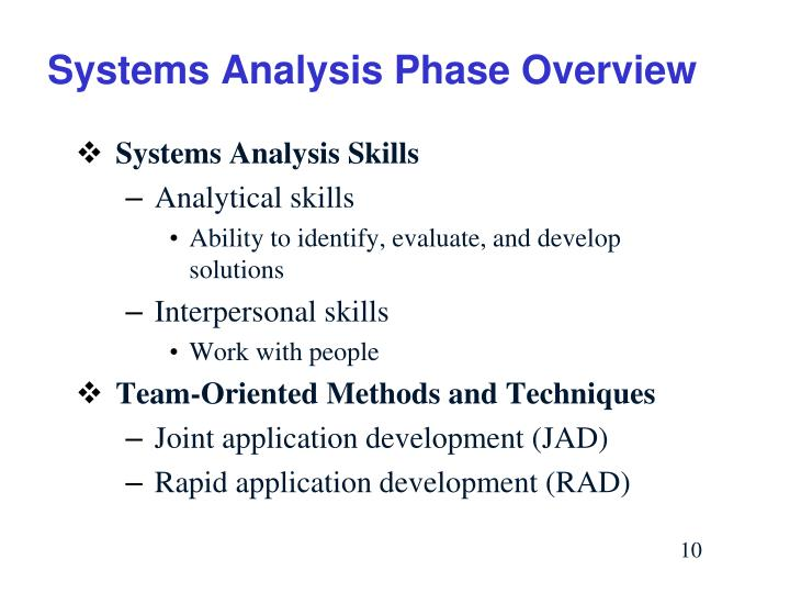 Systems Analysis Phase Overview