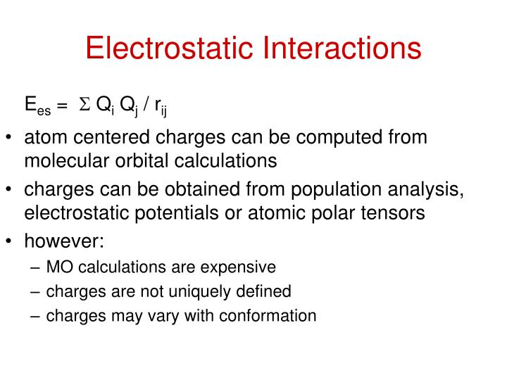 Electrostatic Interactions