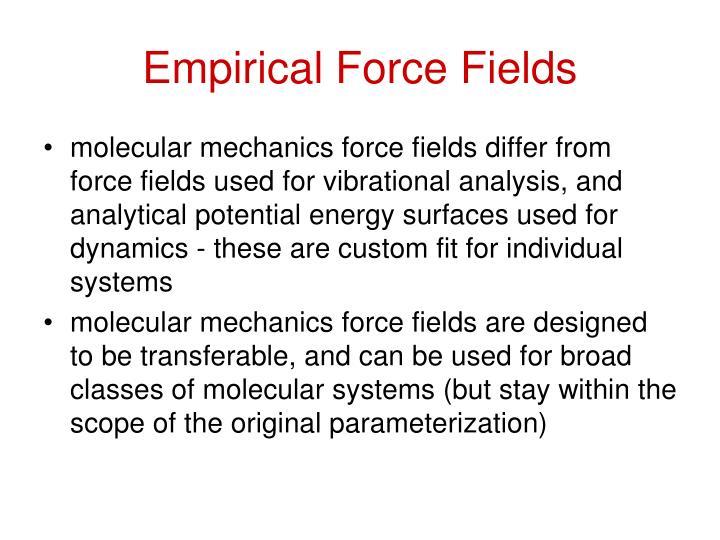 Empirical Force Fields
