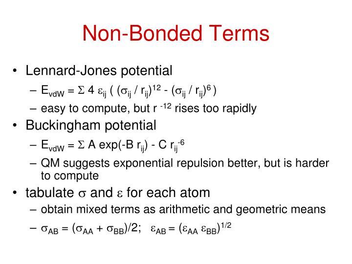 Non-Bonded Terms