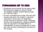 forwarding rif to didd