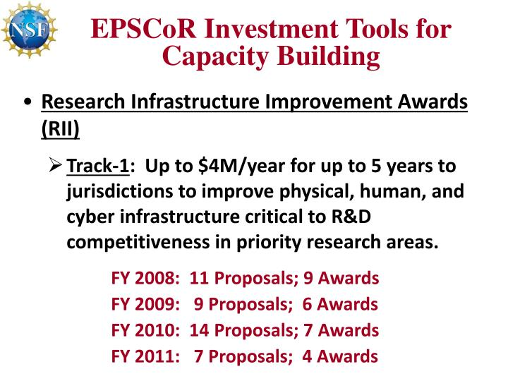 EPSCoR Investment Tools for Capacity Building