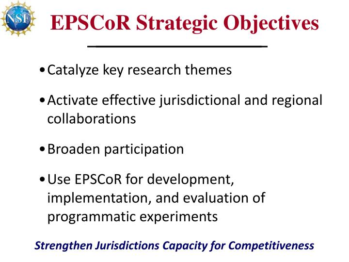 EPSCoR Strategic Objectives