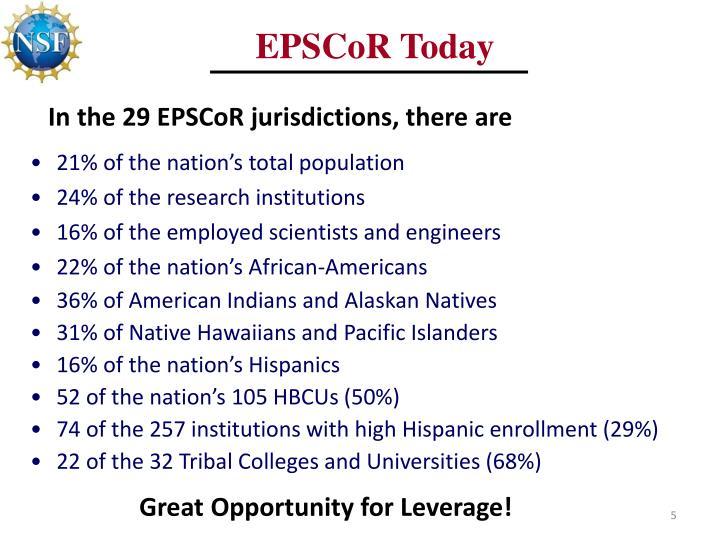 EPSCoR Today