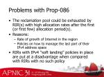 problems with prop 086