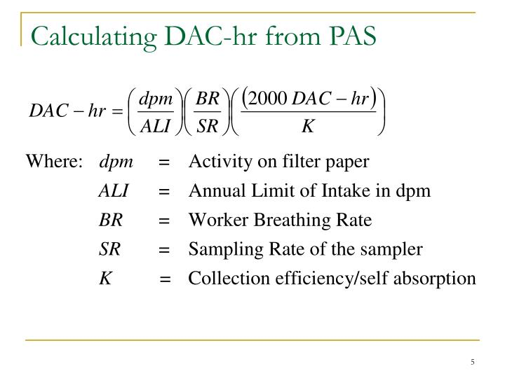 Calculating DAC-hr from PAS