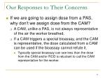our responses to their concerns5
