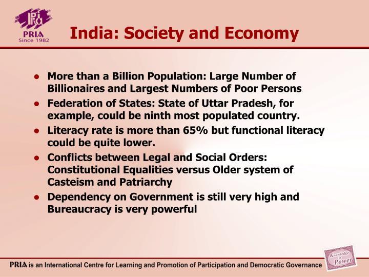 India: Society and Economy