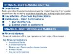 physical and financial capital1
