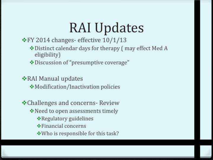 RAI Updates