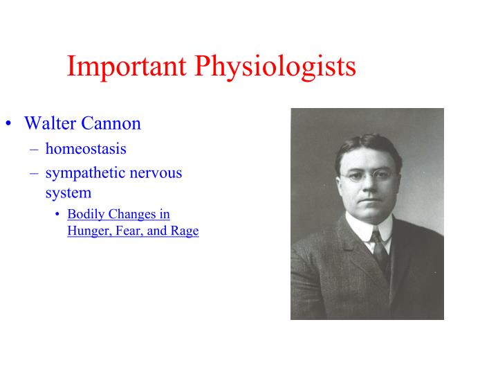 Important Physiologists