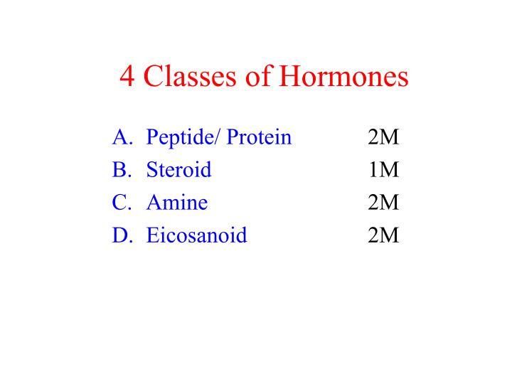4 Classes of Hormones
