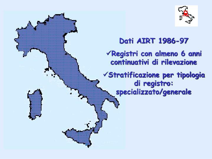 Dati AIRT 1986-97