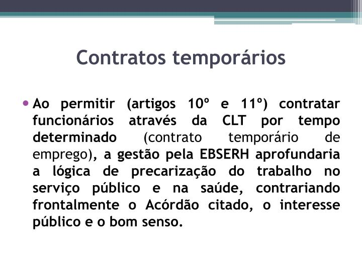 Contratos temporários