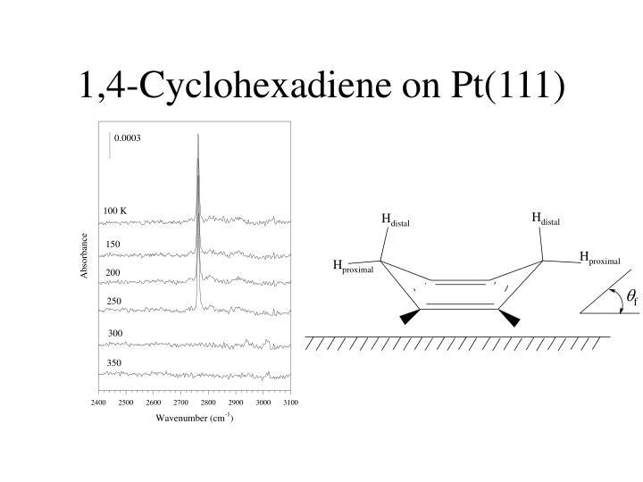 1,4-Cyclohexadiene on Pt(111)