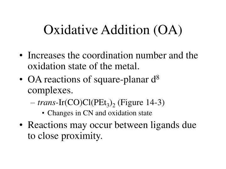 Oxidative Addition (OA)
