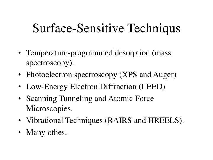 Surface-Sensitive Techniqus