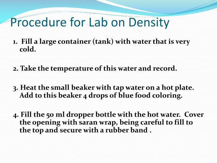 Procedure for Lab on Density