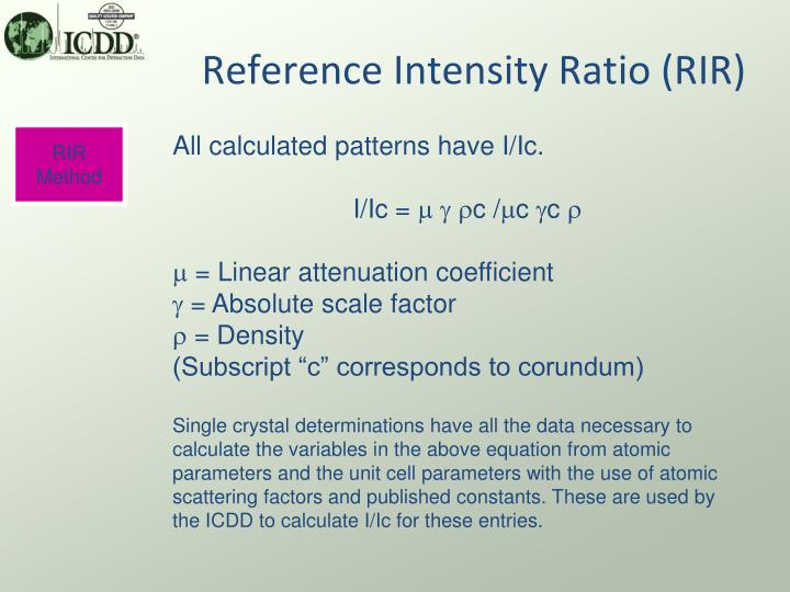 Reference Intensity Ratio (RIR)