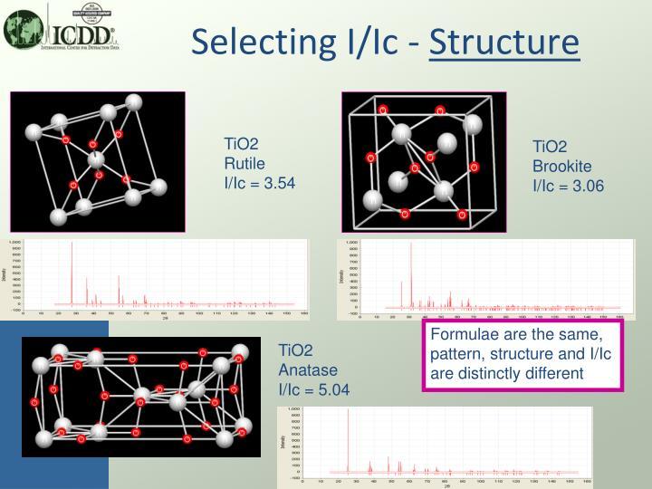 Selecting I/Ic -