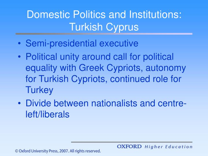 Domestic Politics and Institutions: Turkish Cyprus