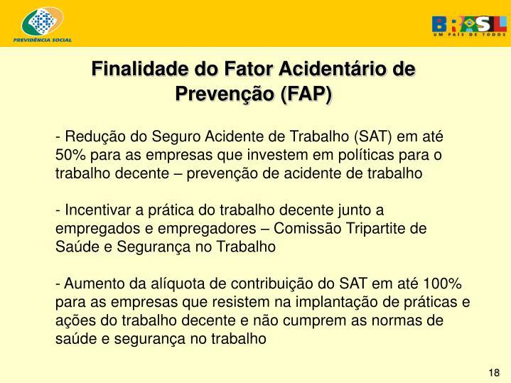 Finalidade do Fator Acidentário de Prevenção (FAP)