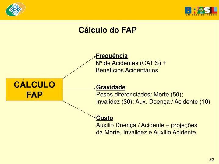 Cálculo do FAP