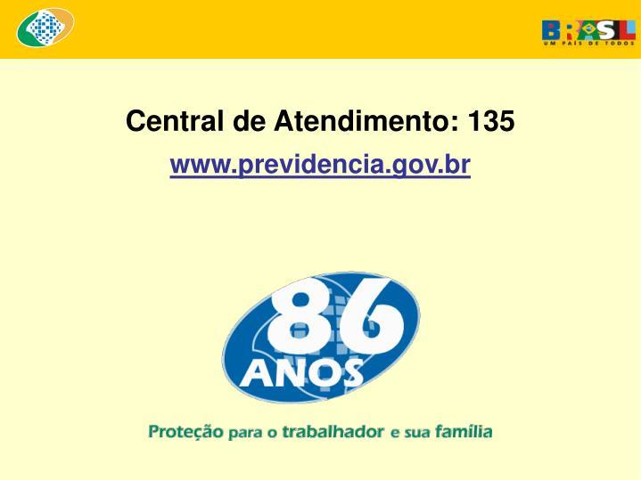 Central de Atendimento: