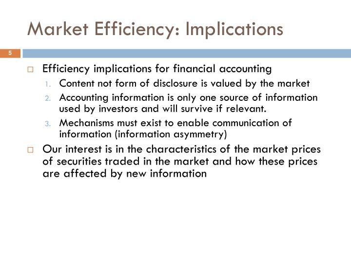Market Efficiency: Implications