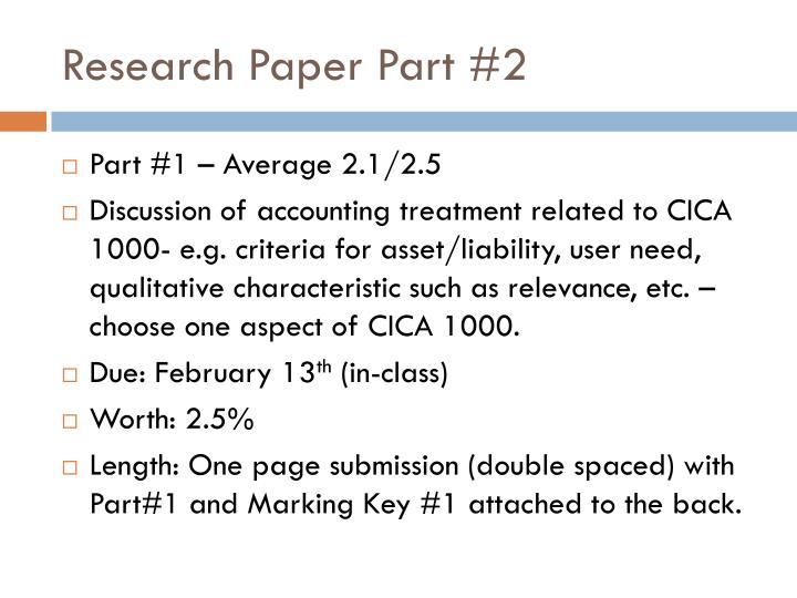 Research Paper Part #2