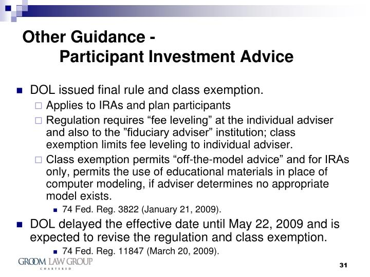 Other Guidance -