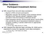 other guidance participant investment advice2