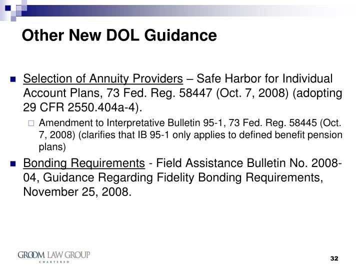 Other New DOL Guidance
