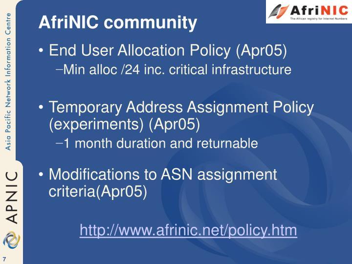 AfriNIC community