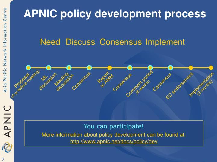 APNIC policy development process