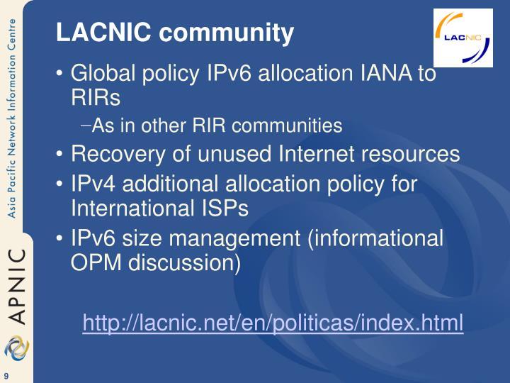 LACNIC community