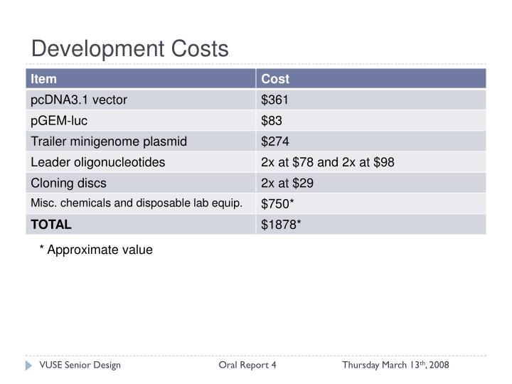 Development Costs