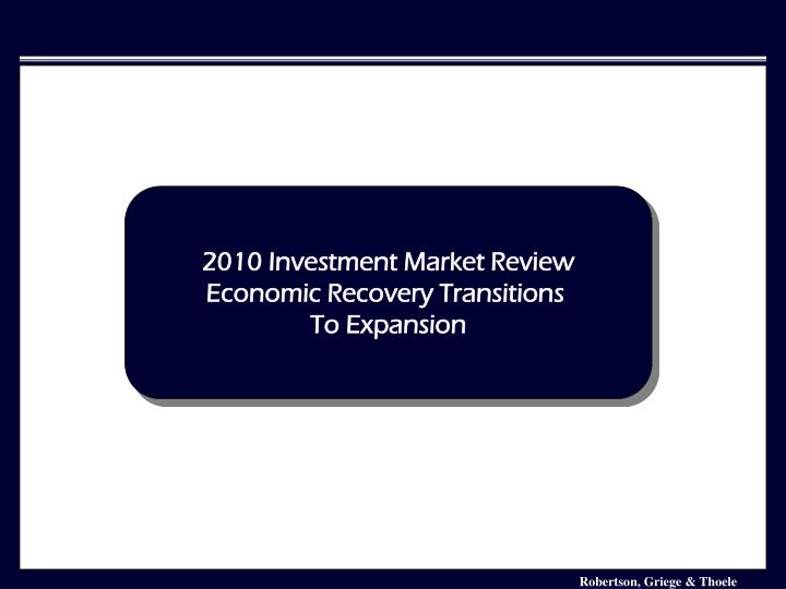 2010 Investment Market Review