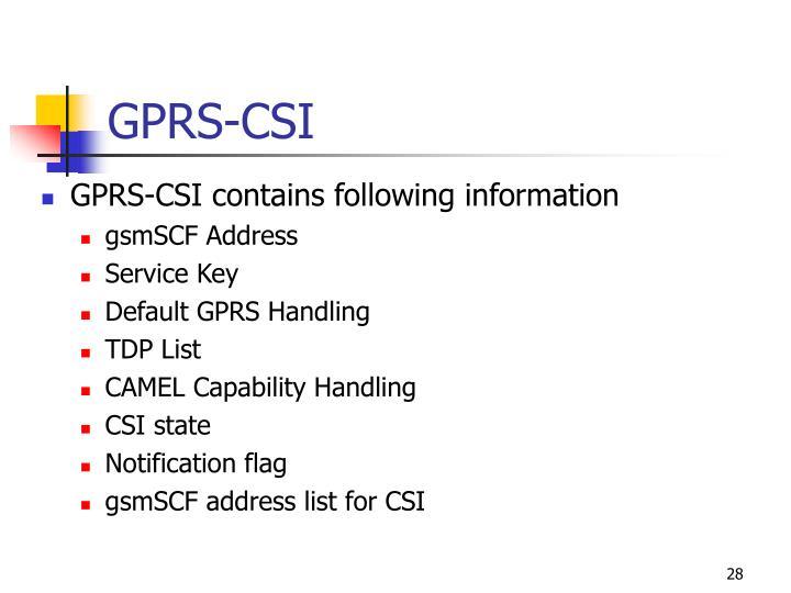 GPRS-CSI