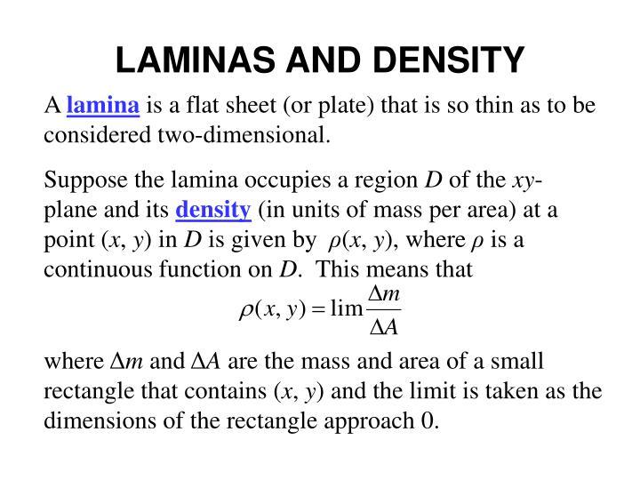 LAMINAS AND DENSITY