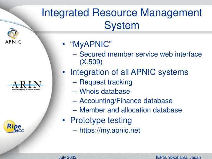 Integrated Resource Management System