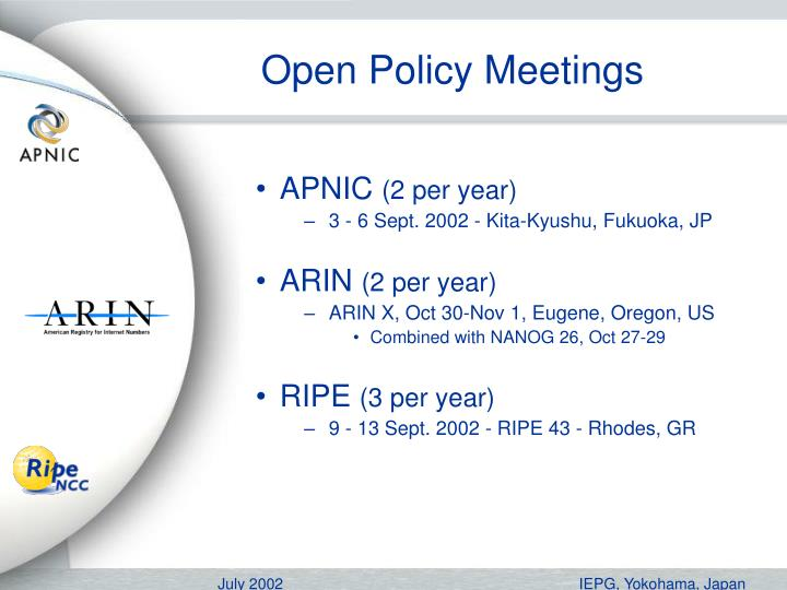 Open Policy Meetings