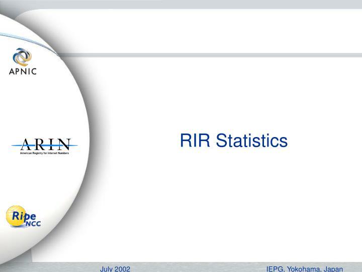 RIR Statistics